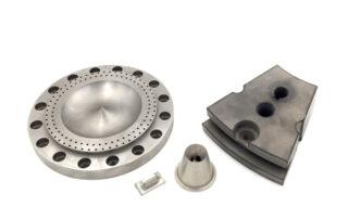 Piezas mecanizadas en aluminio.